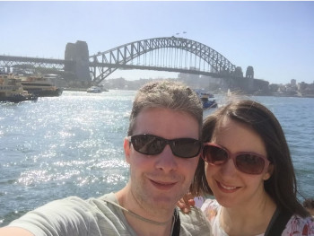 Lyle and Brooke Smart on a recent trip to Australia.