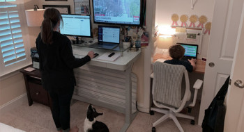 Jennifer Wetzel's home office